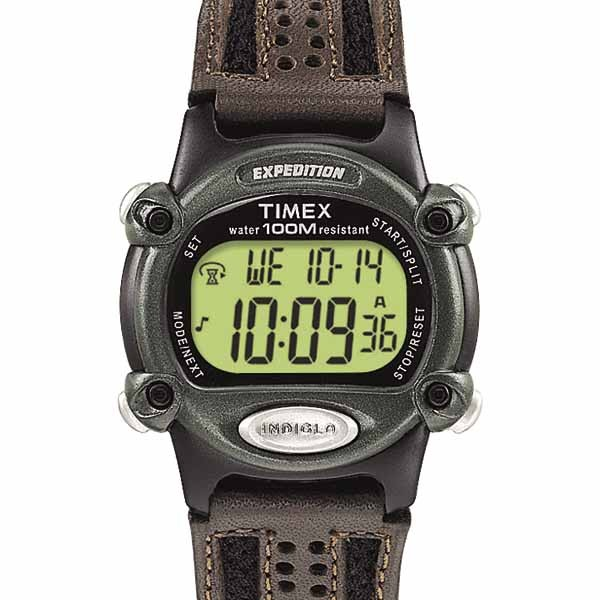 Timex Men's T499679J Expedition Double Shock Black/Green ... |Timex Expedition Digital Watches Men