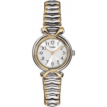 Timex Womens Elevated Classics Two Tone Expansion Watch