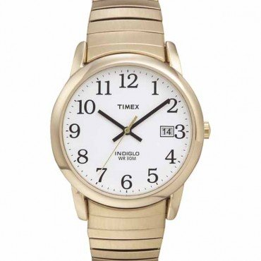 Timex Men's T2H301 Easy Reader Gold-Tone Stainless Expansion Band Watch