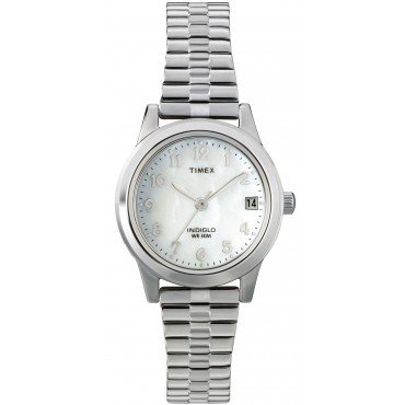 Timex Womens Silvertone Expansion Band Watch