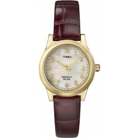 Timex Womens Elevated Classics Burgundy Dress