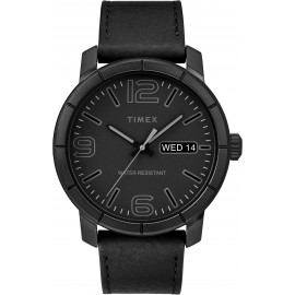 Timex TW2R64300 Men's Mod44 Black Leather Strap
