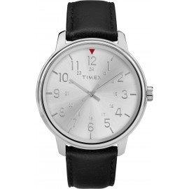 Timex TW2R85300 Men's Black Leather Strap Watch
