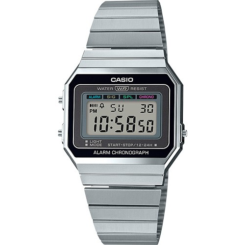 Casio Men's A700W-1ACF Classic Digital Display Quartz Silver Watch