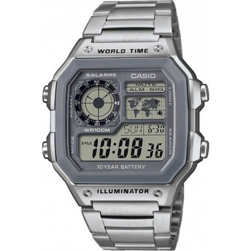 Casio Men's Stainless Steel Quartz Watch with Digital Dial
