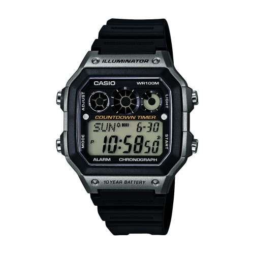 255f66c9f Casio Men's AE-1300WH-8AVCF Illuminator Digital Display Quartz Black ...