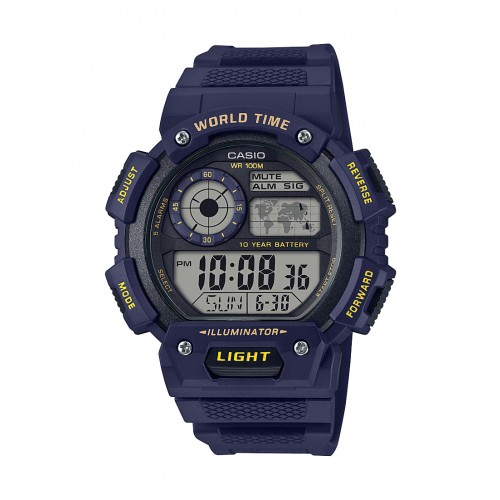 Casio AE1400WH-2AV World Time Digital Sports Watch