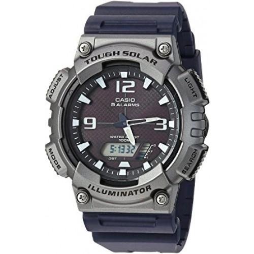 Casio Men's 'Tough Solar' Quartz Resin Casual Watch, Color Black (Model: AQ-S810W-1A4VCF)