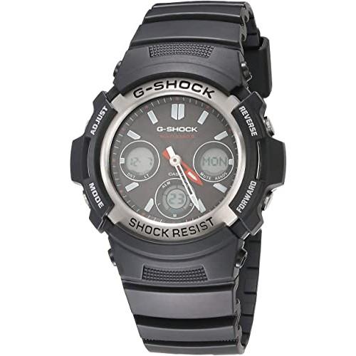 G-Shock AWG-M100-1ACR Men's Tough Solar Atomic Black Resin Sport Watch