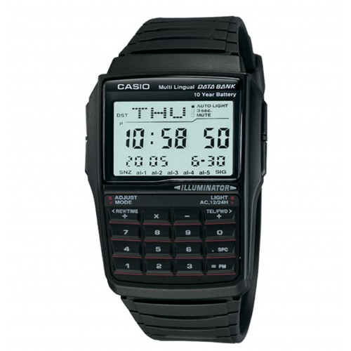 Casio Men's DBC32-1A Data Bank Black Digital Watch