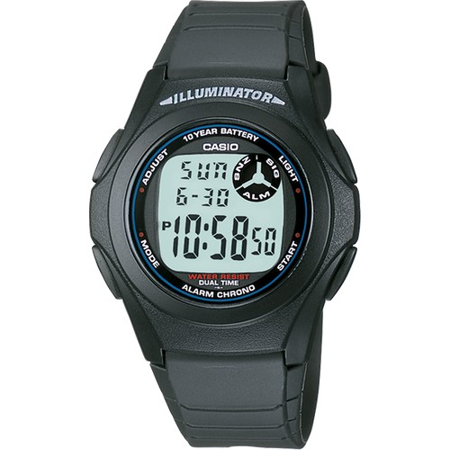 Casio Men's 'Classic' Quartz Resin Casual Watch, Color:Black (Model: F-200W-1ACF)