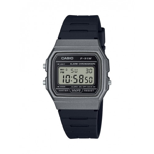 Casio Men's 'Classic' Quartz Plastic and Resin Casual Watch, Color Black (Model: F-91WM-1BCF)
