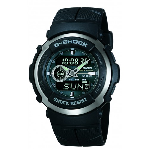Casio Men's G-Shock G300-3AV Black Resin Sport Watch