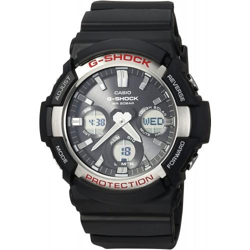 Casio Men's 'G SHOCK' Quartz Resin Casual Watch, Color Black (Model: GAS-100-1ACR)