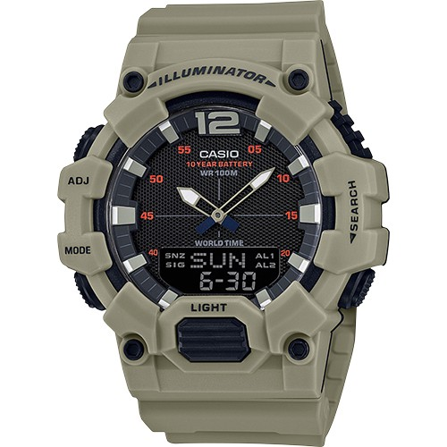 Casio Men's Analog-Digital World Time Watch