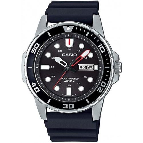 Casio Men's Stainless Steel Quartz Resin Strap Watch