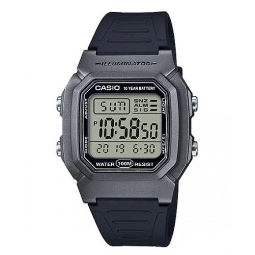 Casio Men's Dual Time Digital Silver/Black Watch