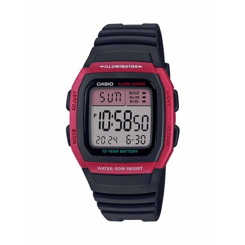 Casio Men's W-96H-4AVCF Classic Digital Display Quartz Black Watch