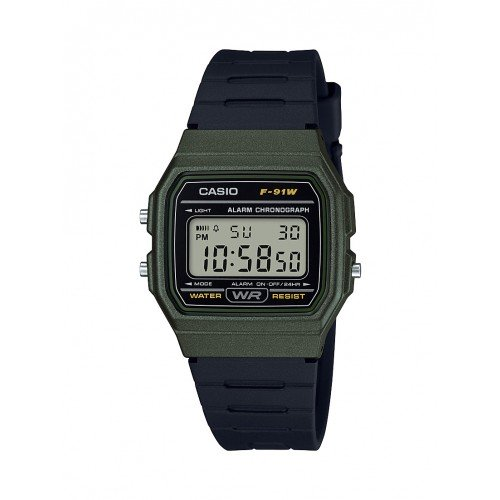 Casio Men's 'Classic' Quartz Plastic and Resin Casual Watch, Color Black (Model: F-91WM-3ACF)