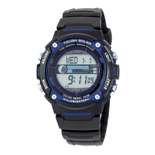 Casio Mens Sport Watch with Black Resin Band