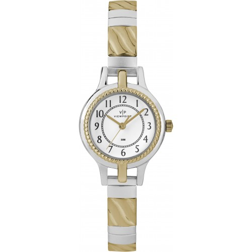 Viewpoint by Timex CC3D82400 Women's Two-Tone Stainless Steel Expansion Band Watch