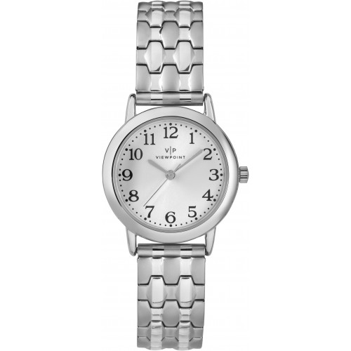 Viewpoint by Timex CC3D82900 Women's Silver-Tone Stainless Steel Expansion Band Watch