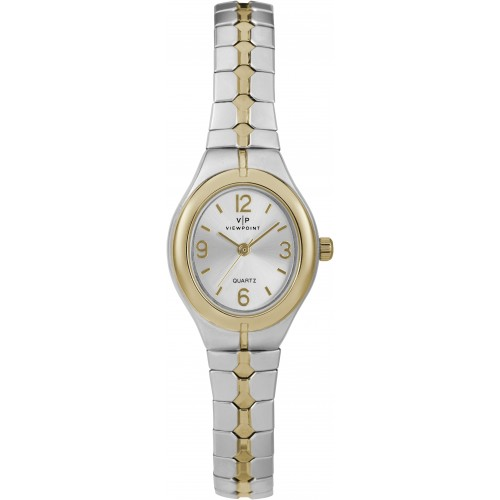 Viewpoint by Timex CC3D83200 Women's Two-Tone Stainless Steel Expansion Band Watch