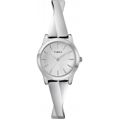 Timex TW2R98700 Women's Silver-Tone Stainless Steel Expansion Band Bangle Watch
