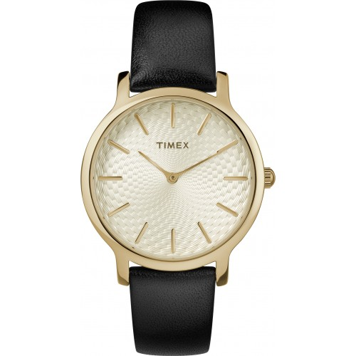 Timex TW2T29000 Metropolitan 34mm Leather Strap Watch