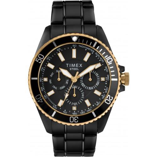 Timex Men's Black Stainless Steel Watch