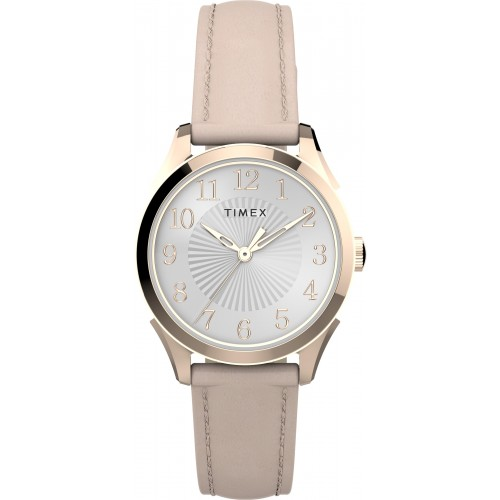 Timex TW2T66500 Women's Briarwood 28mm Pink Leather Strap Watch