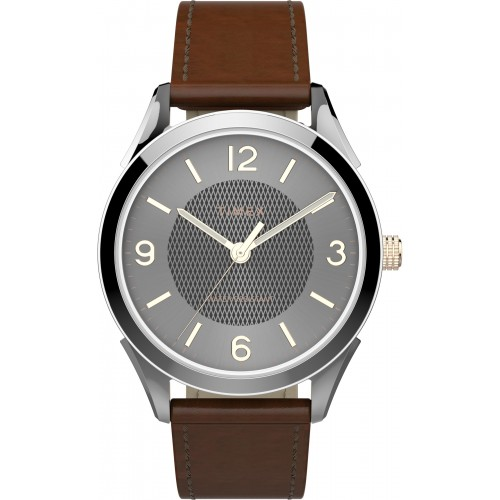 Timex TW2T66800 Men's Briarwood 40mm Brown Leather Strap Watch