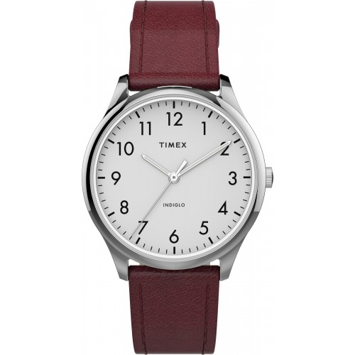 Modern Easy Reader 32mm Leather Strap Watch