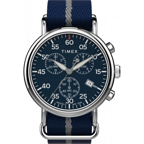 Timex TW2T73800 Men's Weekender   Chronograph 40mm Blue Fabric Strap Watch