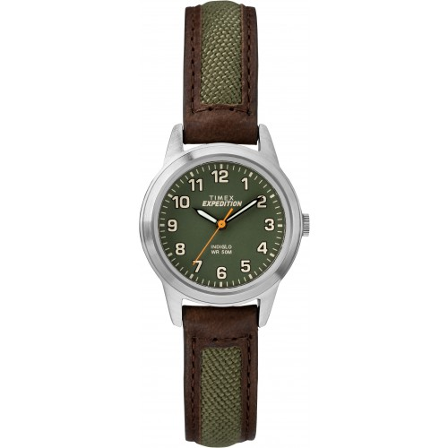 Timex TW4B12000 Unisex Expedition Field Mini Brown Leather Strap Watch