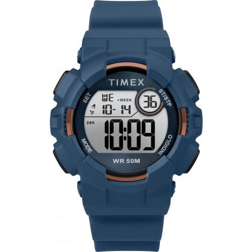 Timex TW5M23500 Mako DGTL   44mm Blue Silicone Strap Watch