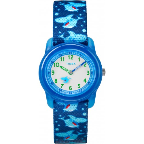 Timex Youth TW7C13500 Blue Sharks Nylon Strap Watch