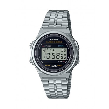 Casio Unisex-Adult's Quartz Stainless Steel Strap, Silver, 19 Casual Watch (Model: A171WE-1ACF)