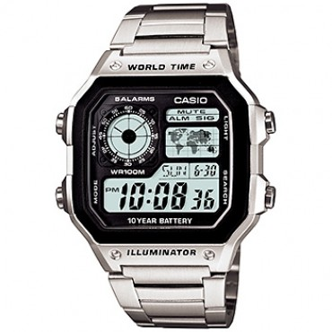 Casio Men's AE1200WHD-1A Stainless Steel Digital Watch