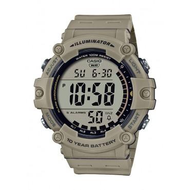 Casio Men's AE1500WH-5AV Wide Face Digital Tan Resin Strap Watch