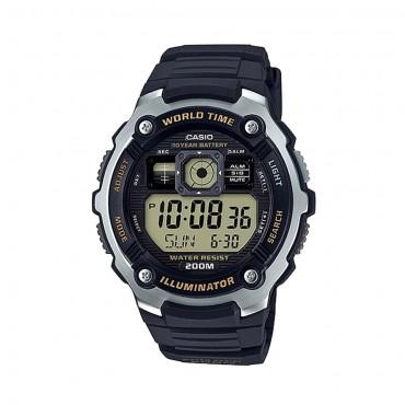 Casio Men's 'Classic' Quartz Resin Casual Watch, Color:Black (Model: AE-2000W-9AVCF)