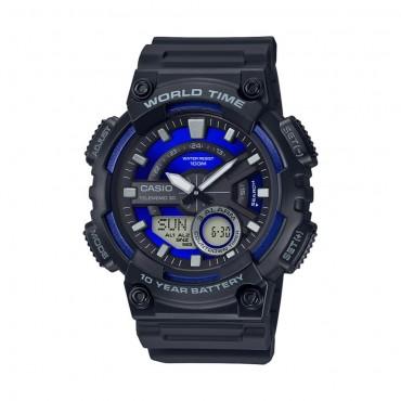 Casio Men's AEQ110W-2A2V Black Resin Sport Watch