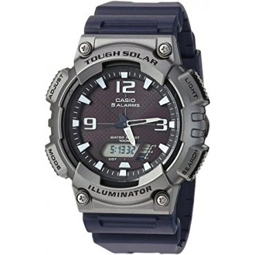 Casio Men's 'Tough Solar' Quartz Resin Casual Watch, Color Black (Model: AQ-S810W-1A4VCF)