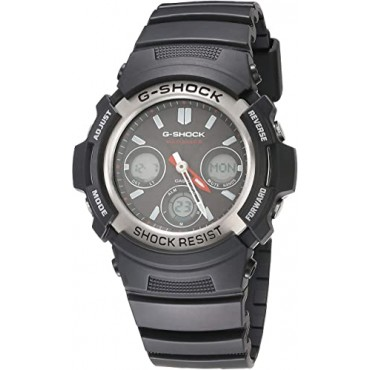 G-Shock AWG-M100-1ACR Men's Tough Solar Atomic Black Resin Sport Watch