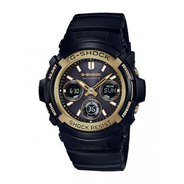 Casio Men's 'G-SHOCK' Quartz Stainless Steel and Resin Watch