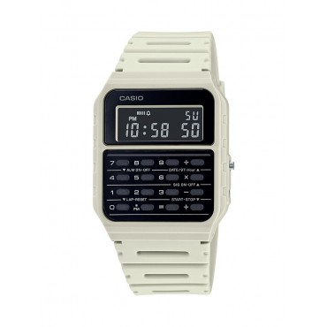 Casio Men's White 8 Digit Calculator Watch