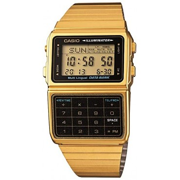 Casio Men's DATABANK Digital Watch with Stainless Steel Strap