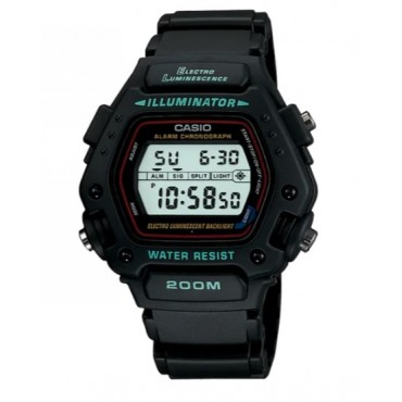 Casio Mens Multi Function Digital Black Resin Strap Watch
