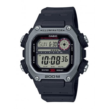 Casio Men's Multi Alarm Chrono Digital Black/Silver Watch