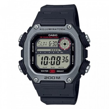 Casio Men's Multi Alarm Chrono Digital Black/Red Watch